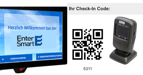 Funktionen WELCOME Check In mit QR Scanner