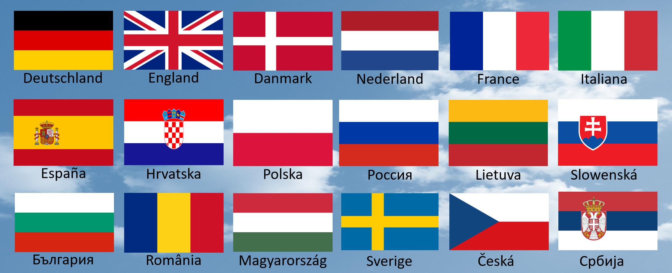 WELCOME Besuchermanagement verfügbare Sprachen