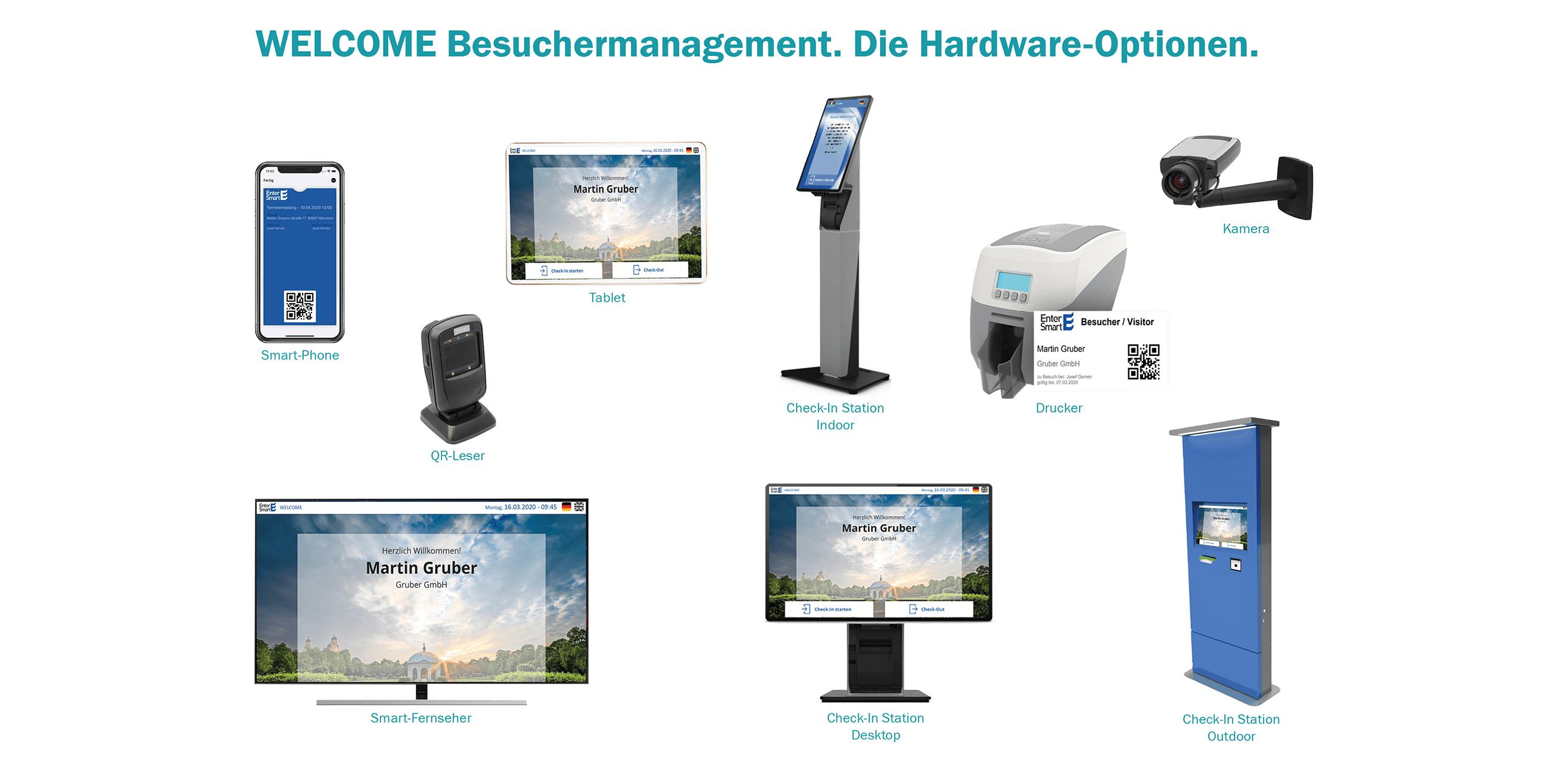 WELCOME Besuchermanagement_Hardwareoptionen